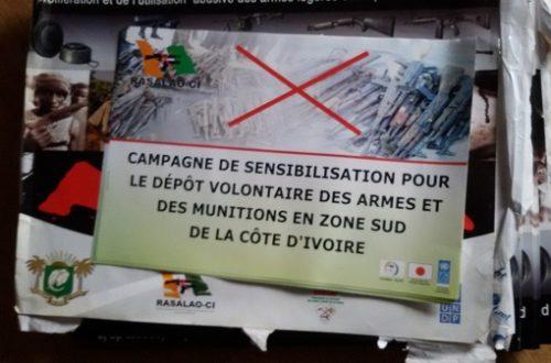 Article : Le RASALAO-CI en campagne de sensibilisation contre  les armes illégalement détenues dans le sud de la Côte d'Ivoire.