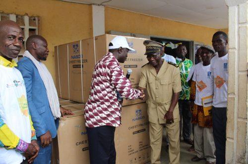 Article : Réintégration des personnes déplacées/ retournées dans la région du Cavally, département de Toulepleu : 20 groupements reçoivent des kits de mise en œuvre d'AGR